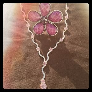 Jewelry - NWOB Pink  rhinestone necklace with matching ring